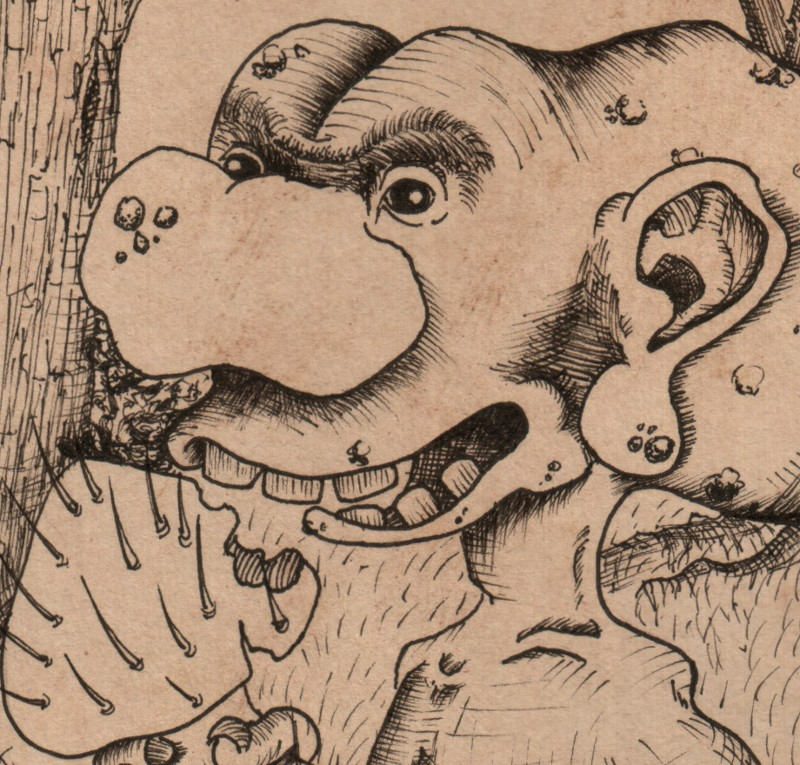 detail of the gnome eating a horklump